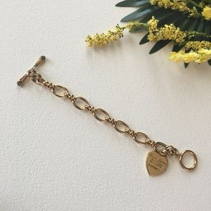 Juicy Couture Jewelry - Juicy Couture bracelet, gold tone with heart